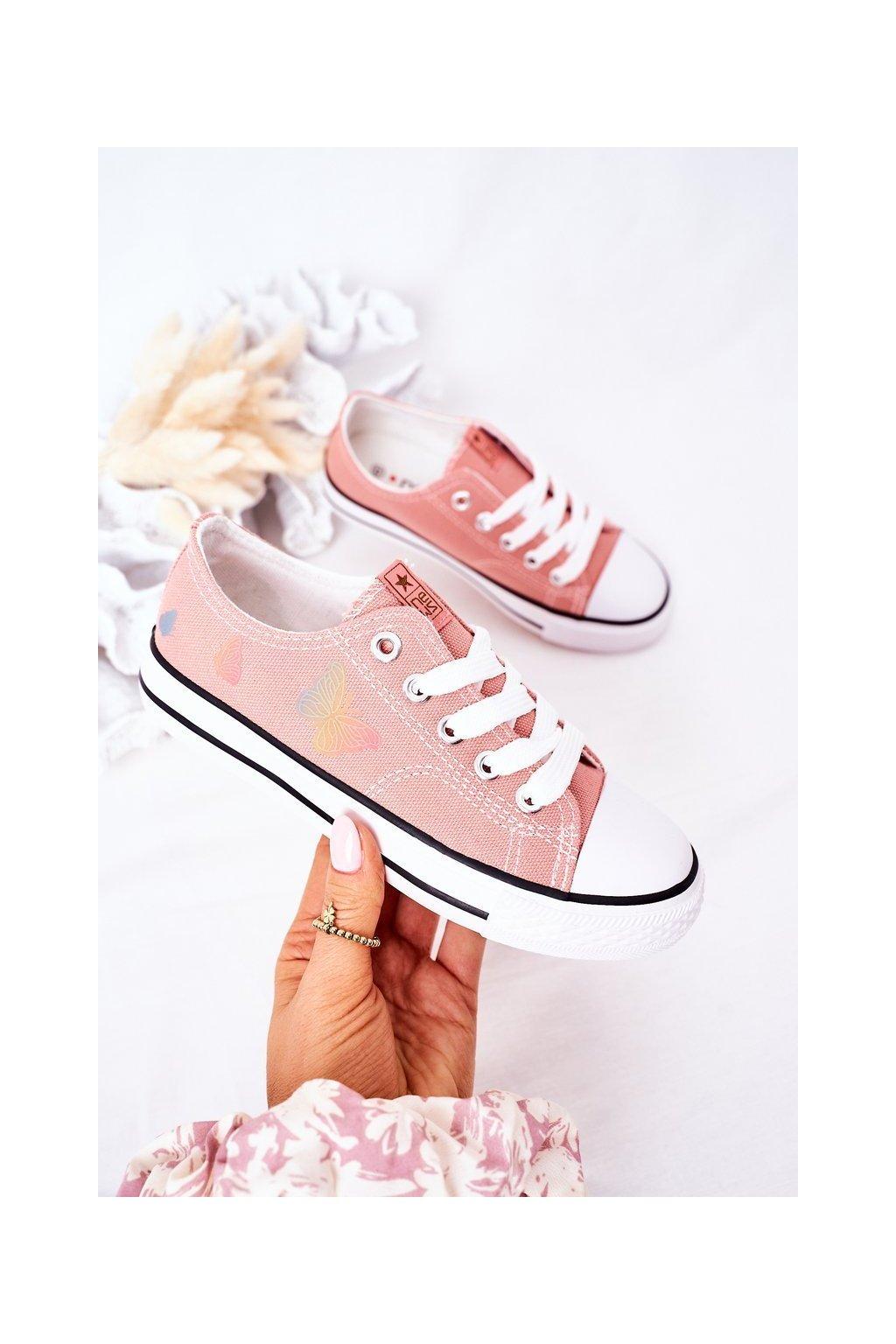 Detské tenisky farba ružová kód obuvi 21DZ35-3585 PINK