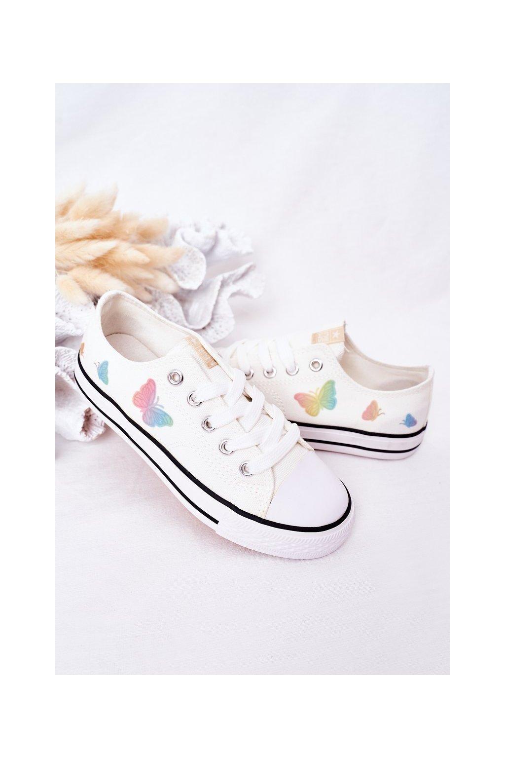 Detské tenisky farba biela kód obuvi 21DZ35-3585 WHITE