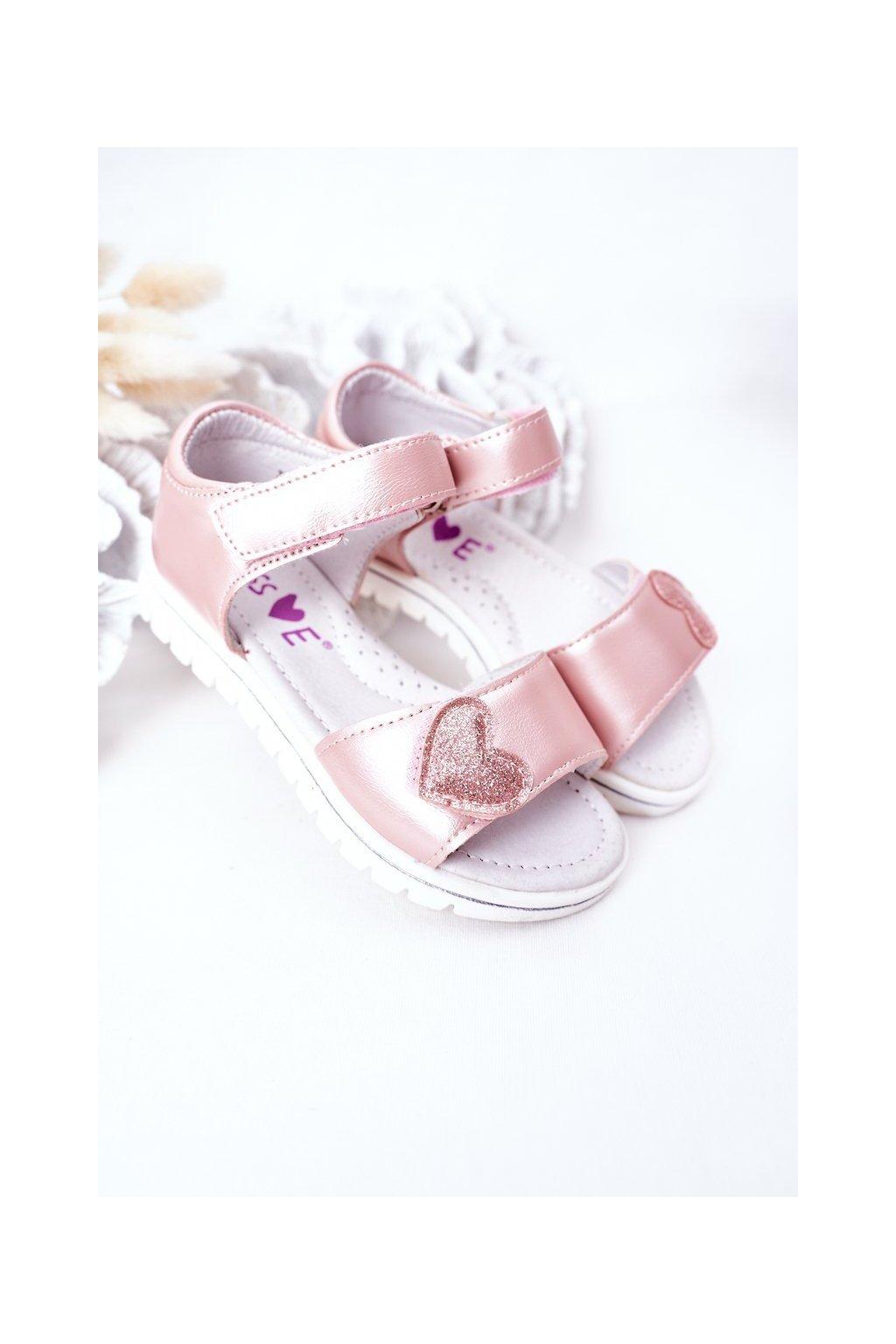 Detské sandále farba ružová kód obuvi 21DZ23-3910 PINK