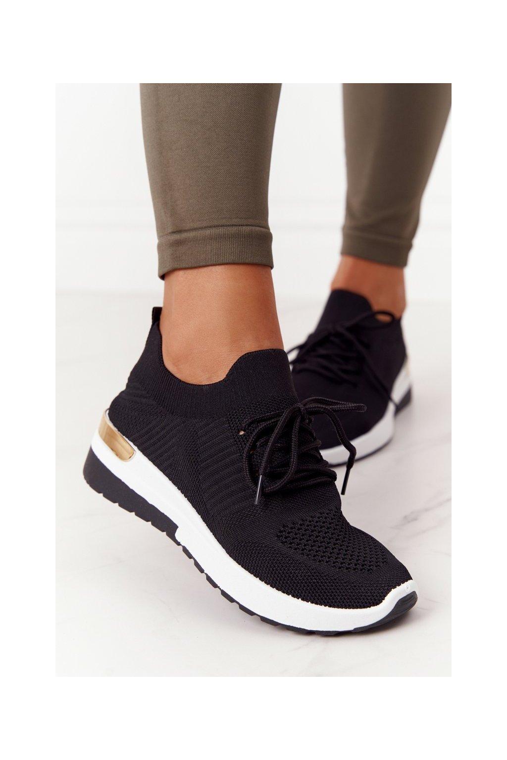 Dámske tenisky farba čierna kód obuvi G-363 BLACK