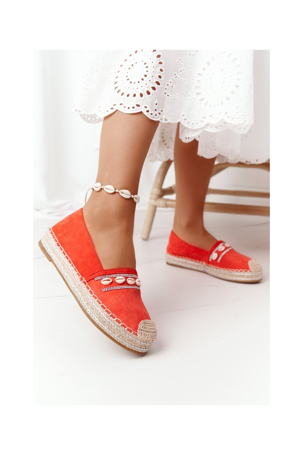 Dámske tenisky farba oranžová kód obuvi 6771 ORANGE