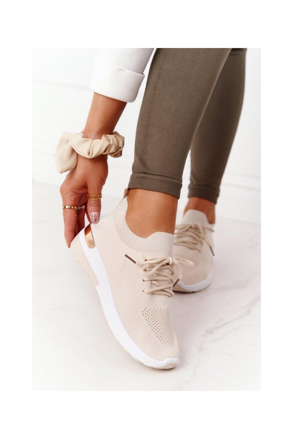 Dámske tenisky farba biela kód obuvi G-363 BEIGE
