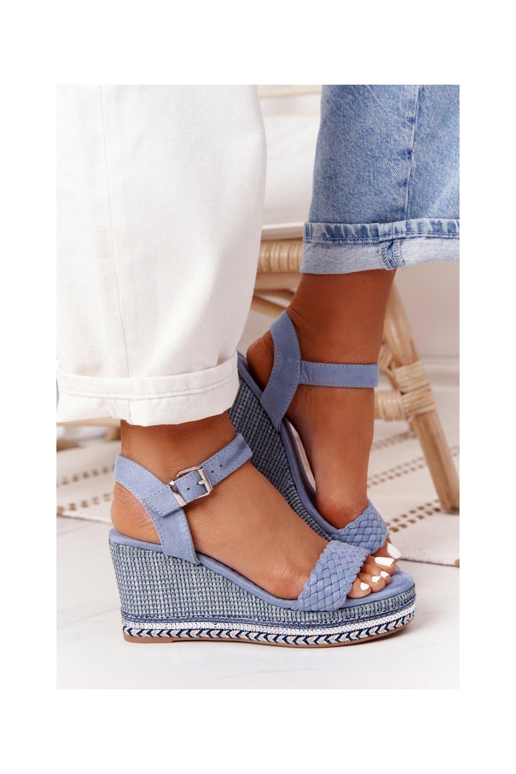 Dámske sandále farba modrá kód obuvi LL-31 BLUE