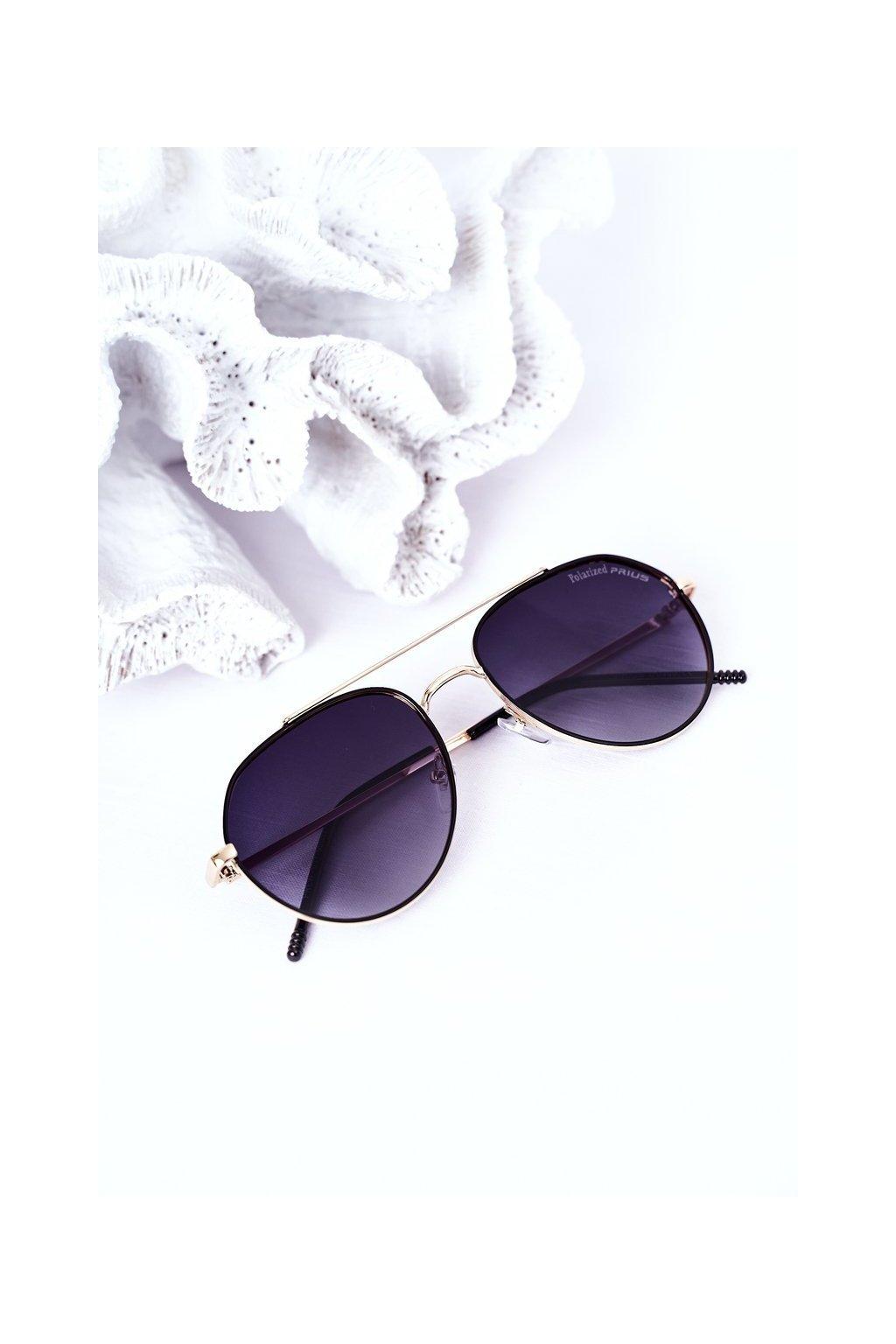 Módne slnečné okuliare čierne Polarized PRIUS PRIUS003 BLACK