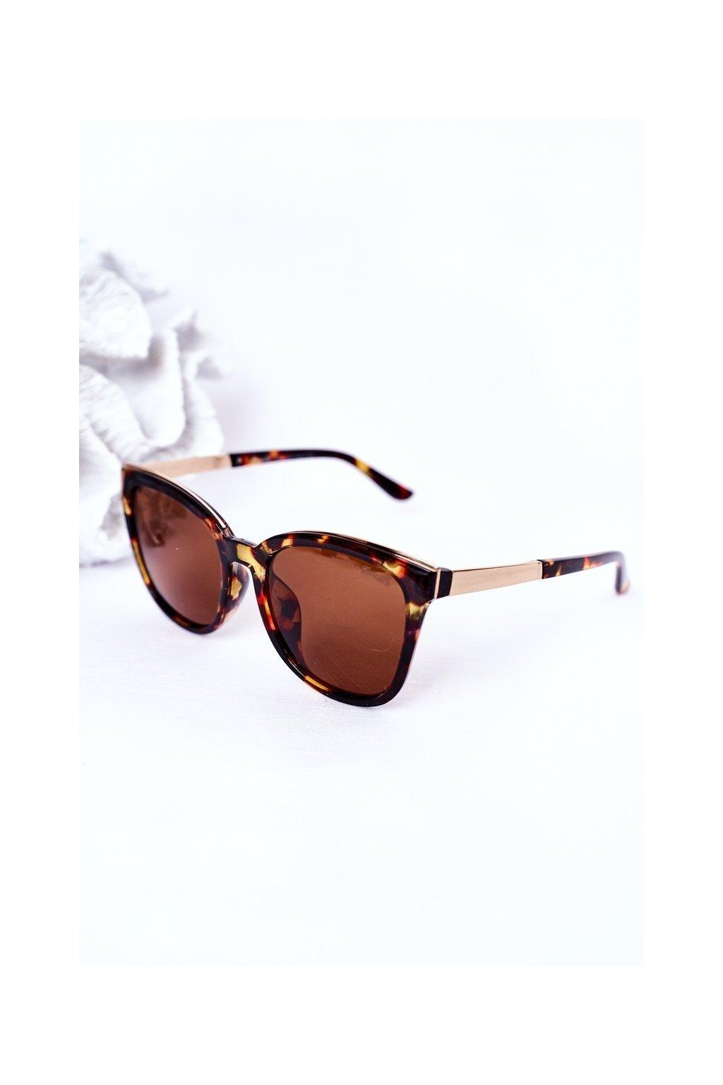 Módne slnečné okuliare hnedé Camilla Eyewear CAMILLA001 BROWN