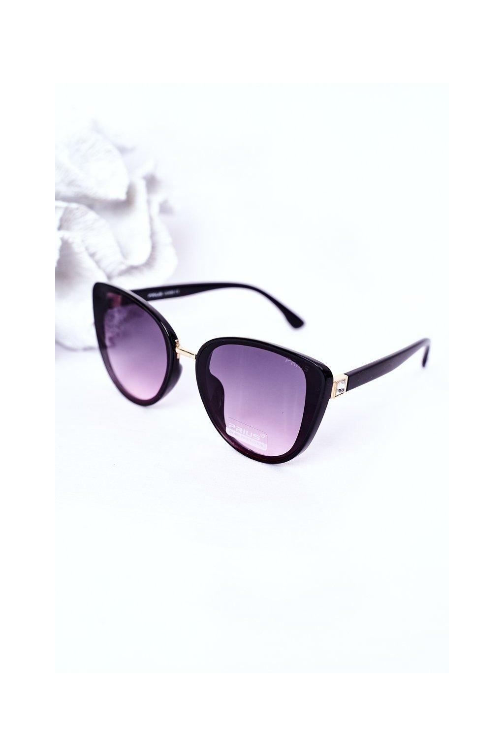 Módne slnečné okuliare čierno-ružové PRIUS Eyewear PRIUS005 BLK/PINK