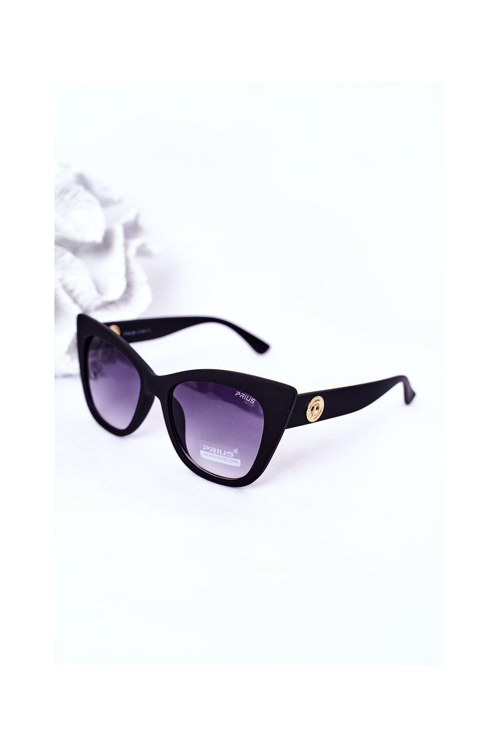 Módne slnečné okuliare čierne matné PRIUS Eyewear PRIUS008 MAT BLK