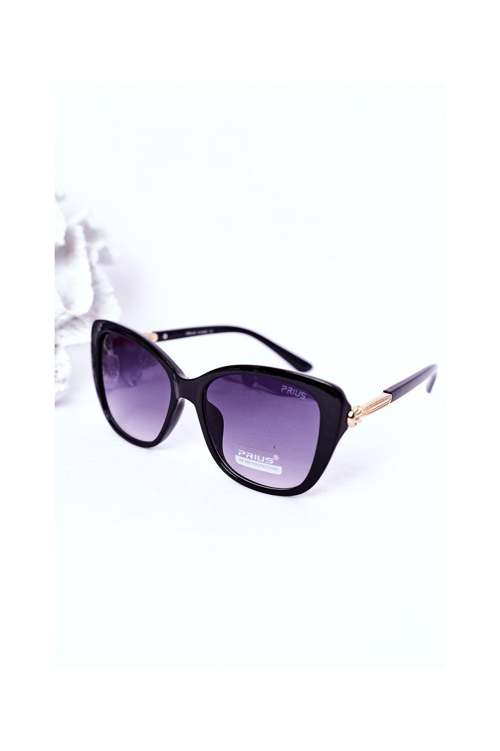 Slnečné okuliare čierne PRIUS Eyewear. PRIUS010 BLACK
