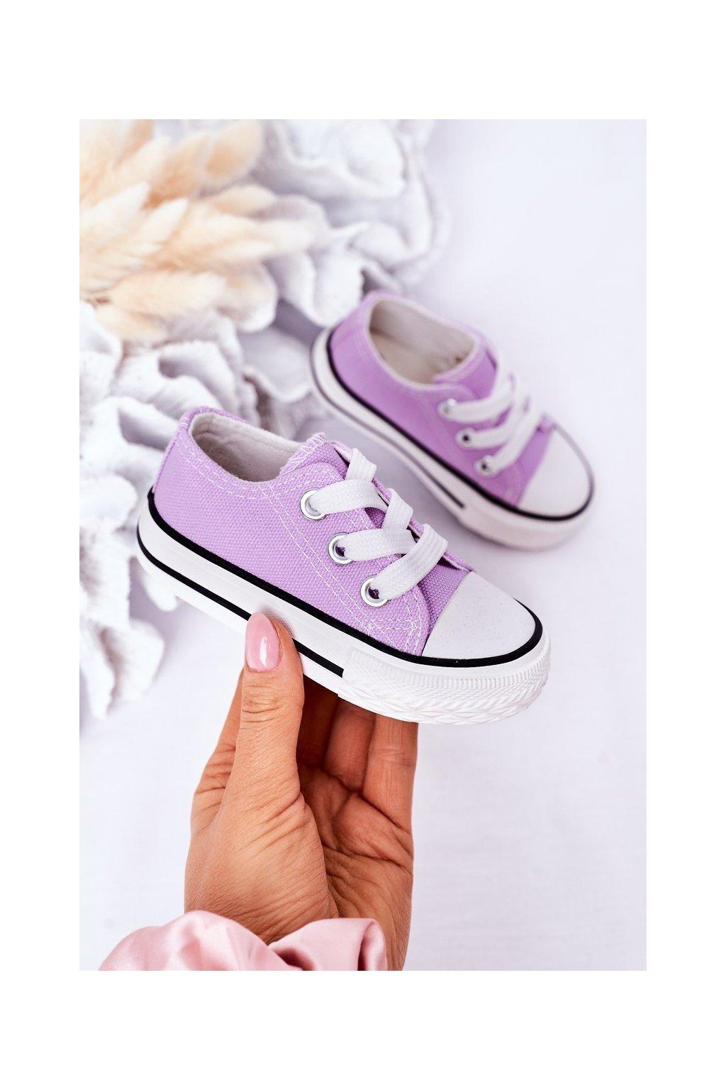 Detské tenisky farba fialová kód obuvi 860-G PURPLE