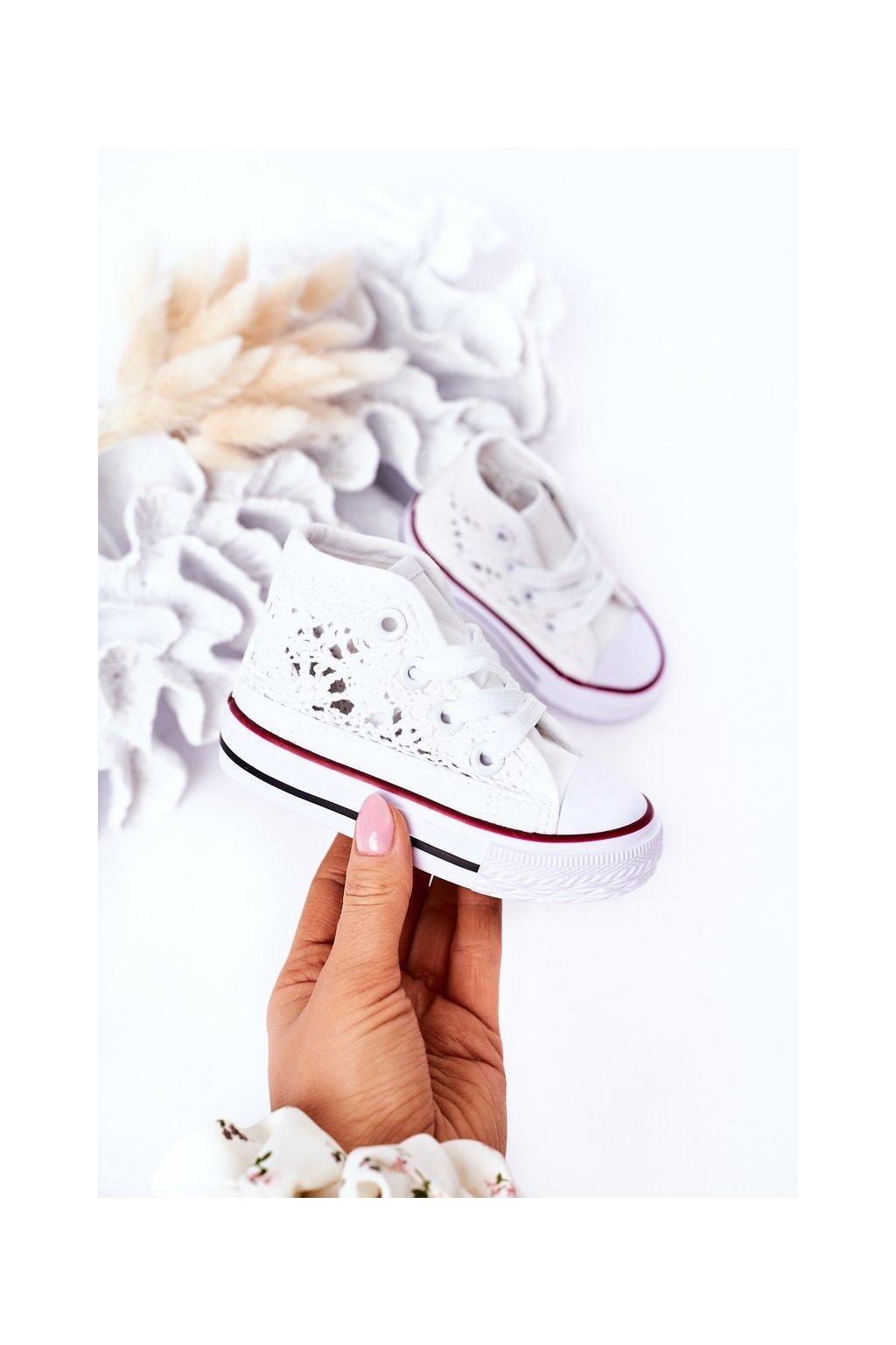 Detské tenisky farba biela kód obuvi 872-B WHITE