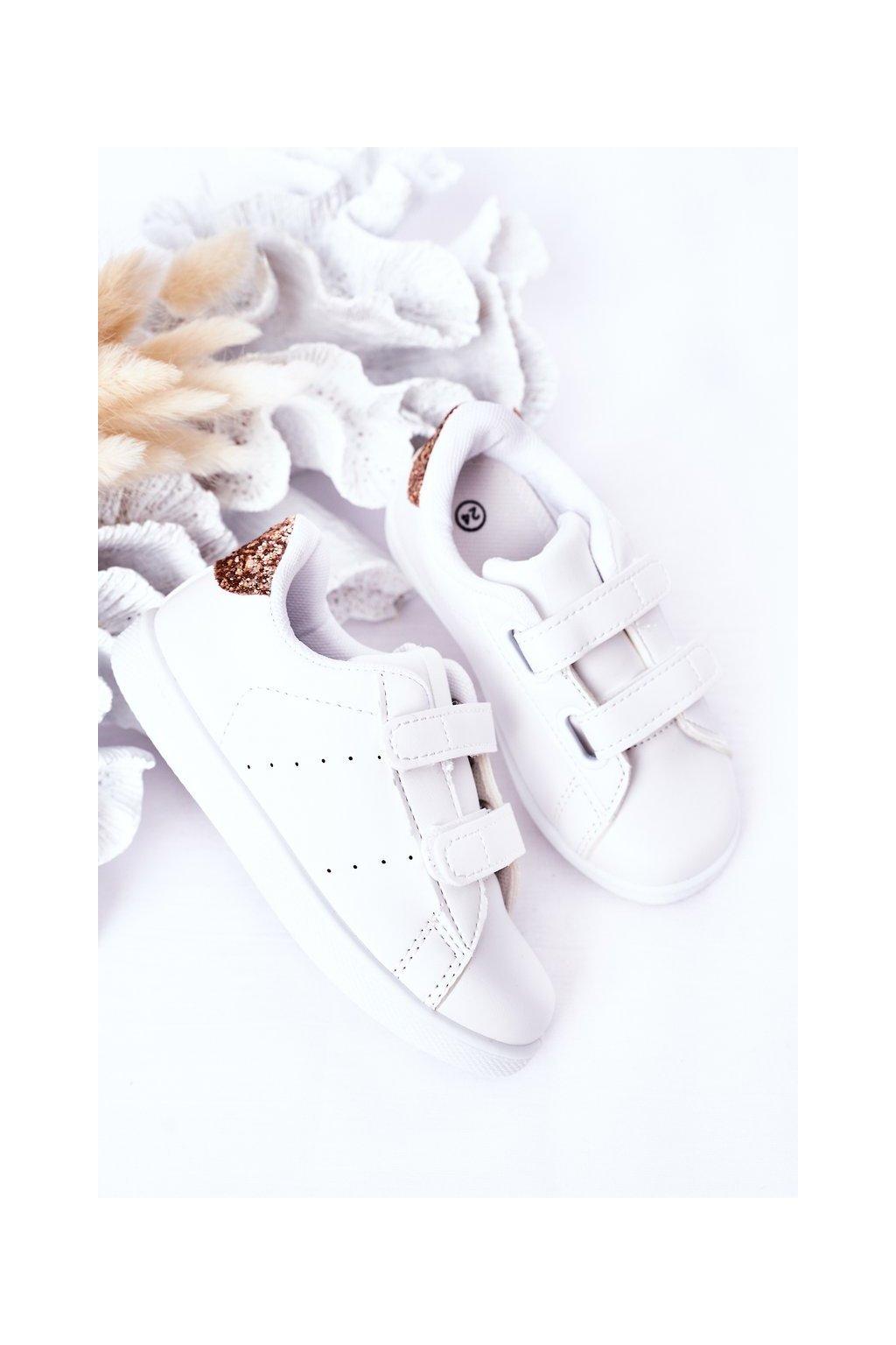 Detské tenisky farba biela kód obuvi 807-D WHI/CHAM