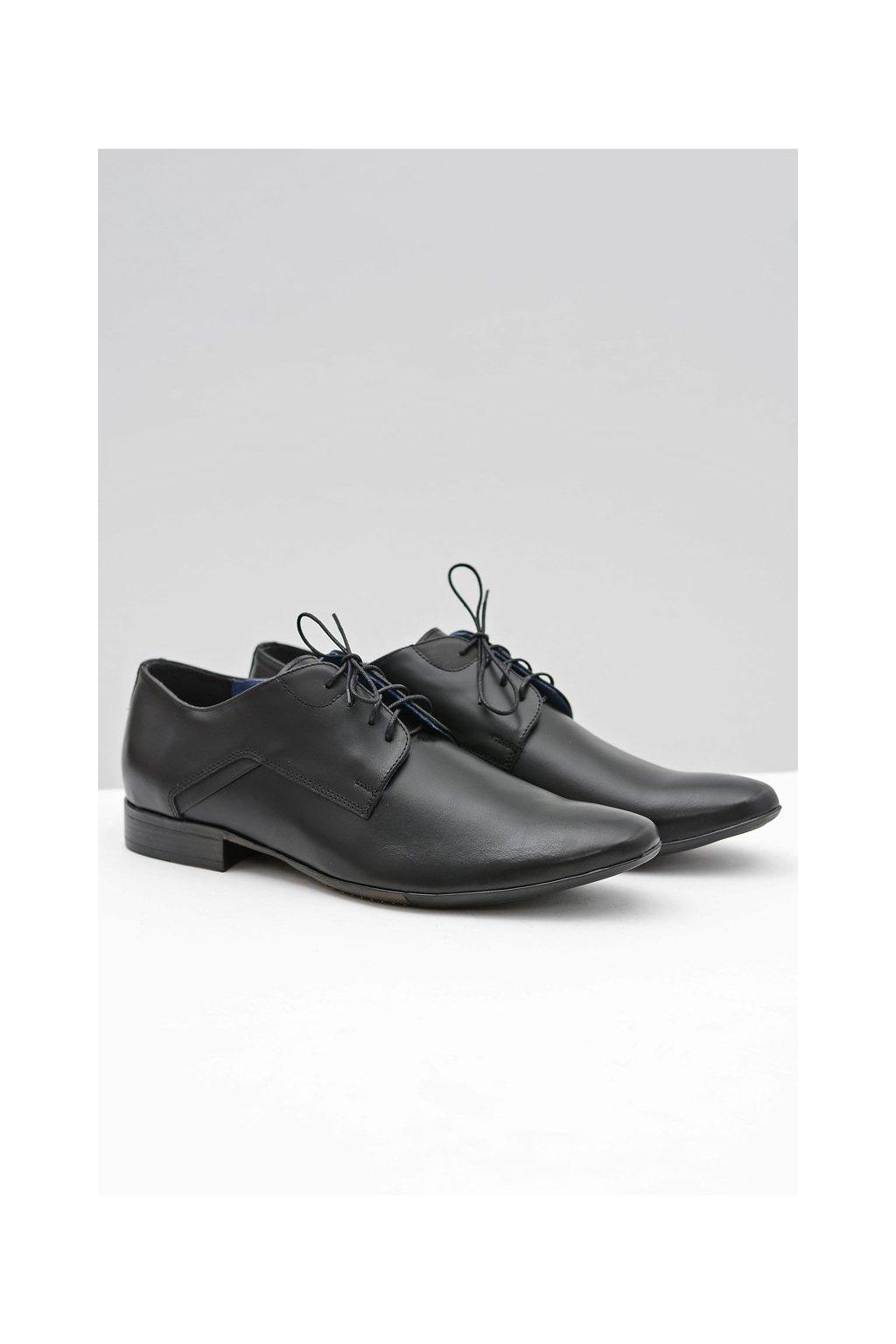 Pánske poltopánky farba čierna kód obuvi 392 BLK