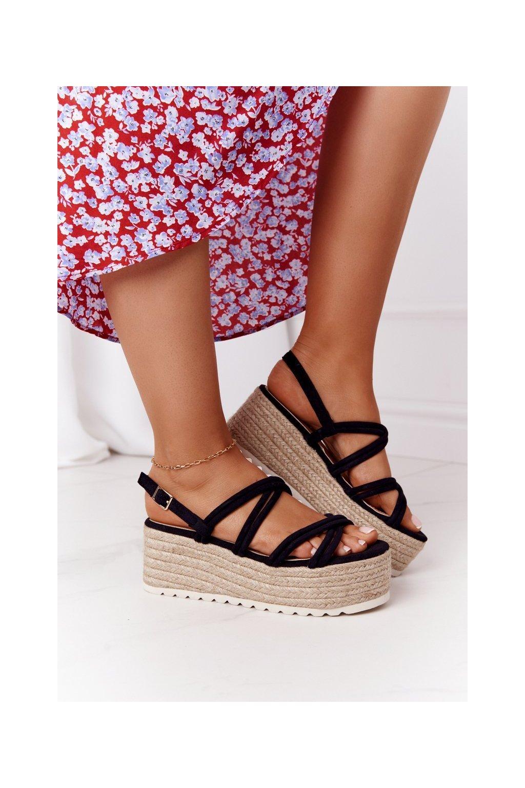 Dámske sandále farba čierna kód obuvi JH151 BLACK