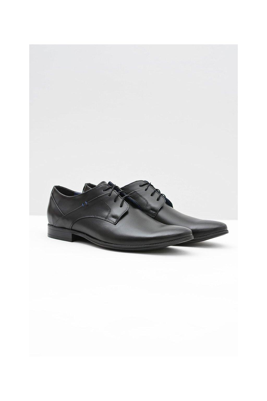 Pánske poltopánky farba čierna kód obuvi 341 BLK