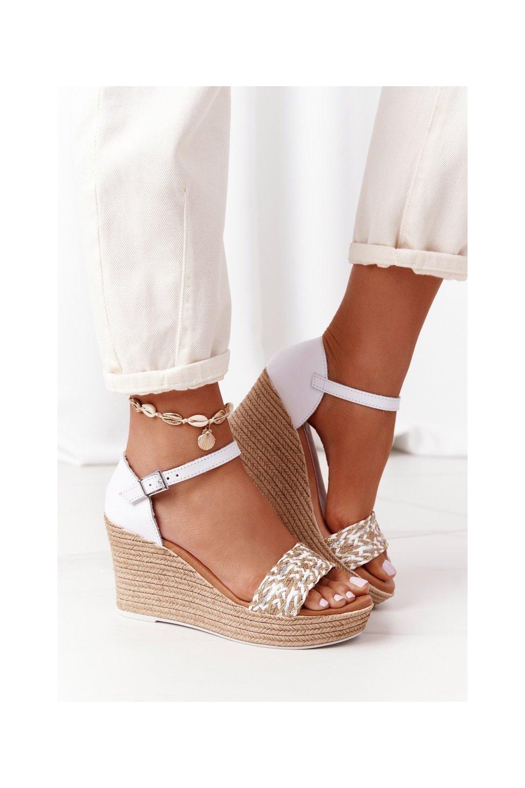 Dámske sandále farba biela kód obuvi L4869-11/00-0 BIAŁY
