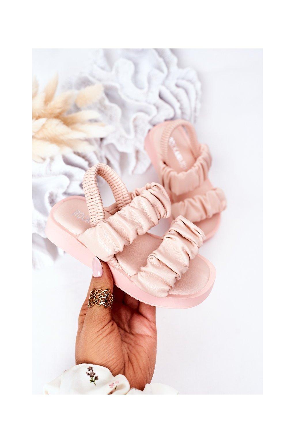Detské sandále farba ružová kód obuvi 284-C PINK/ RICE NOODLES