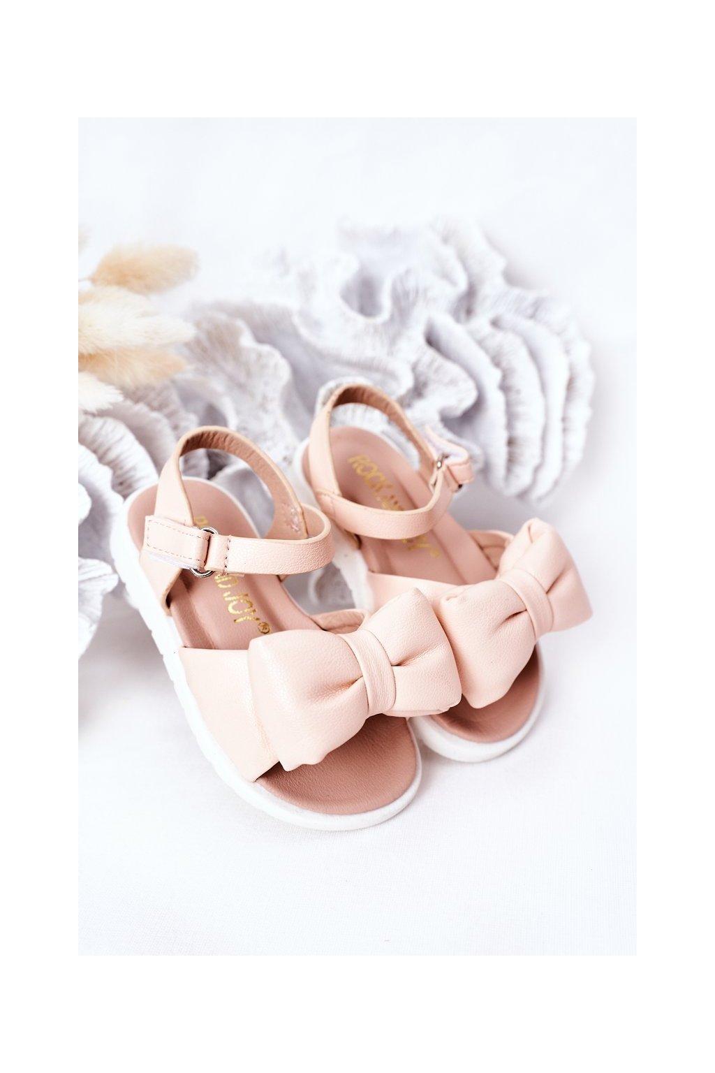 Detské sandále farba ružová kód obuvi 278-C RICE NOODLES / PINK