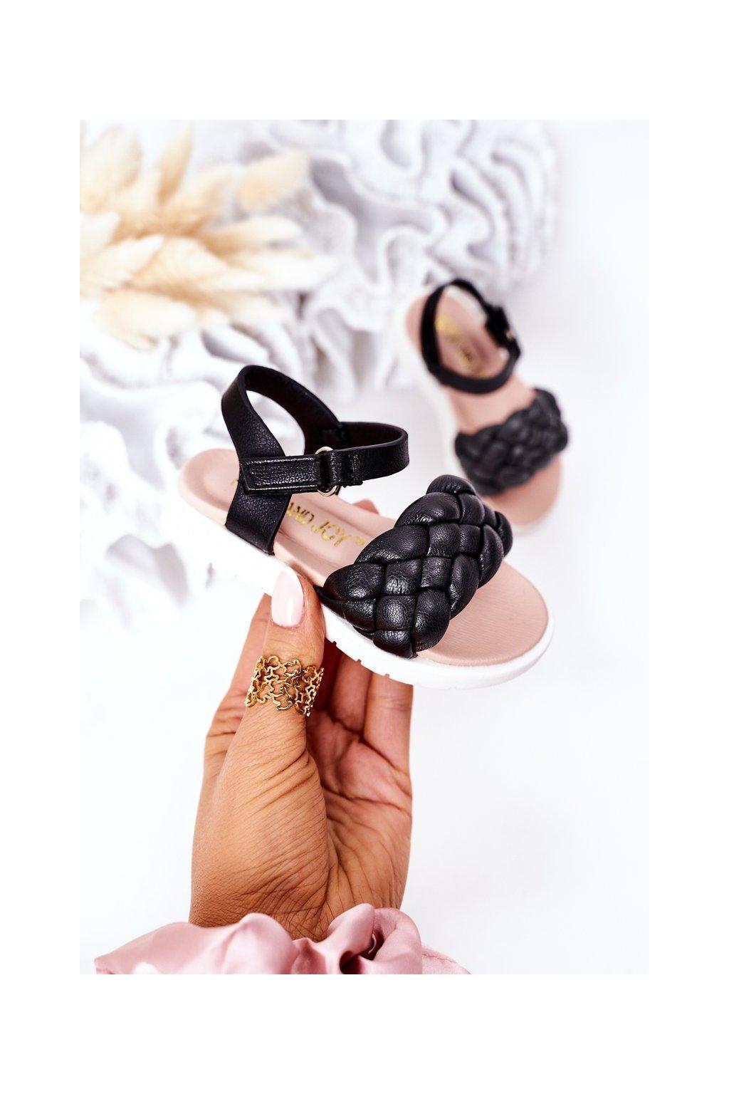 Detské sandále farba čierna kód obuvi 277-A BLACK