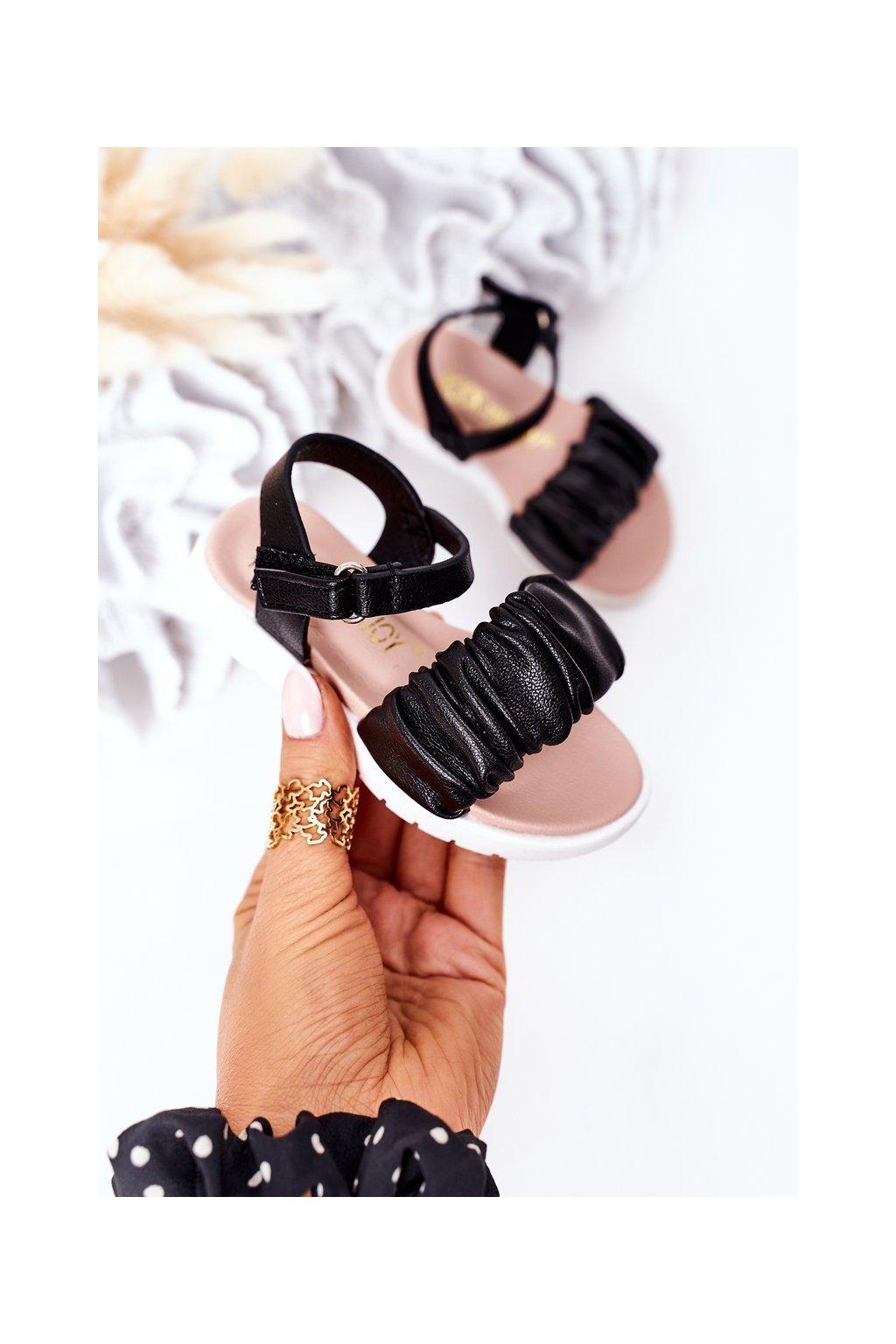 Detské sandále farba čierna kód obuvi 279-A BLACK