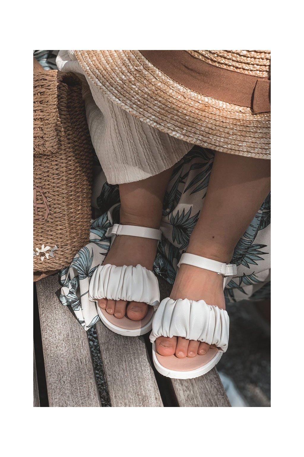 Detské sandále farba biela kód obuvi 279-D WHITE