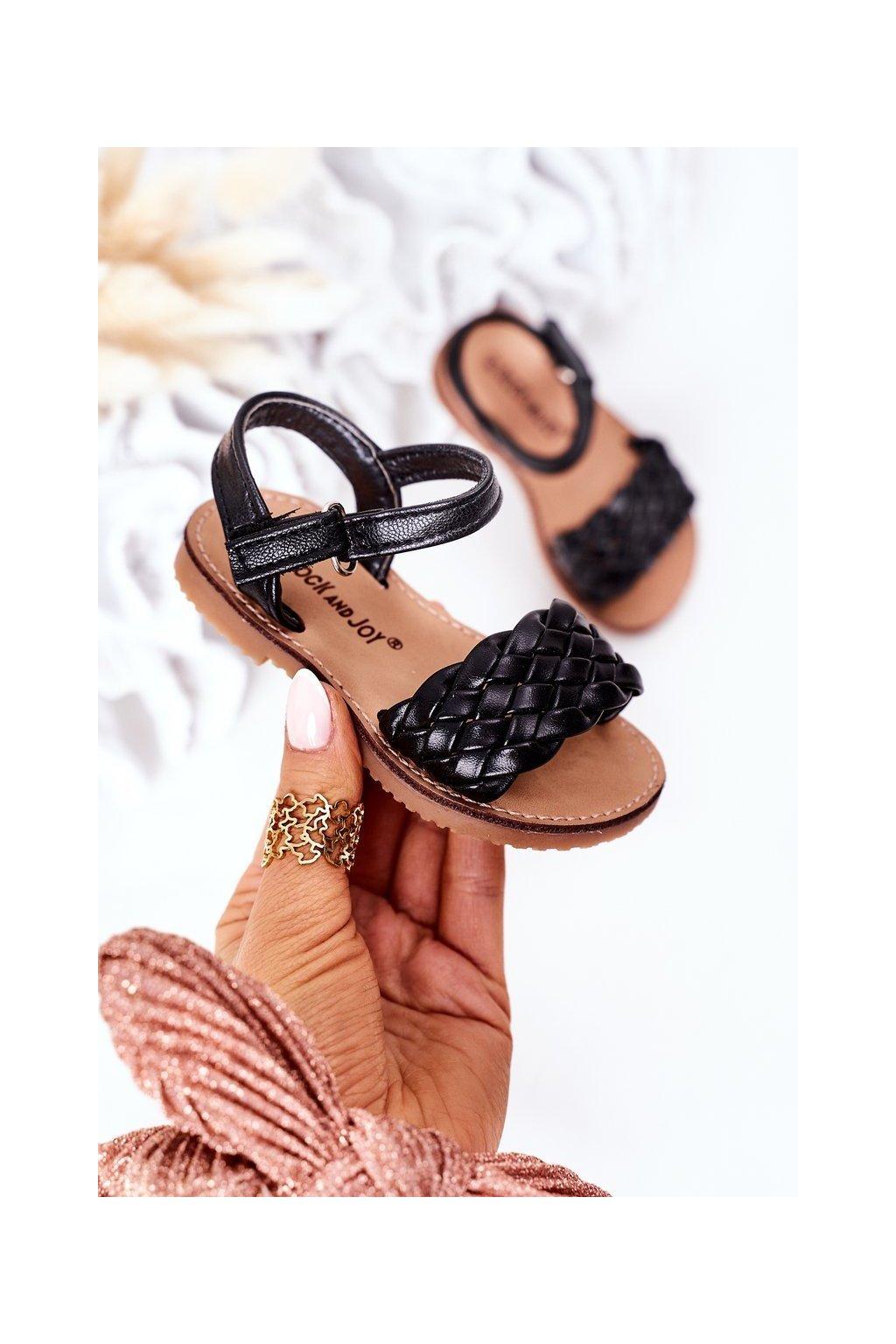 Detské sandále farba čierna kód obuvi 283-A BLACK