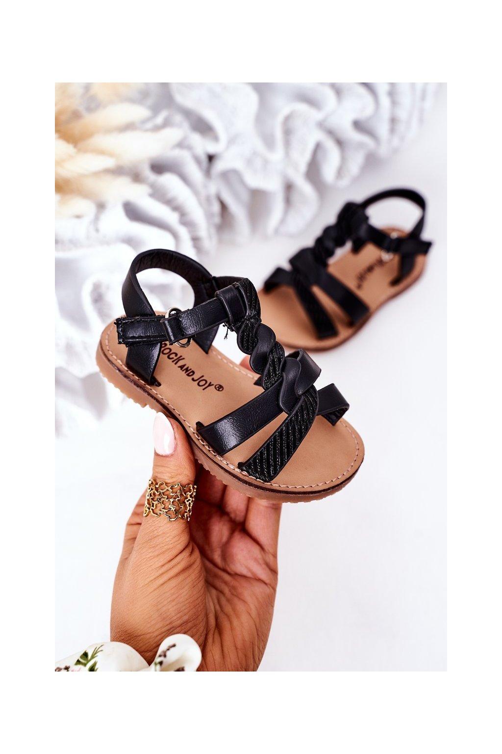 Detské sandále farba čierna kód obuvi 276-A BLACK
