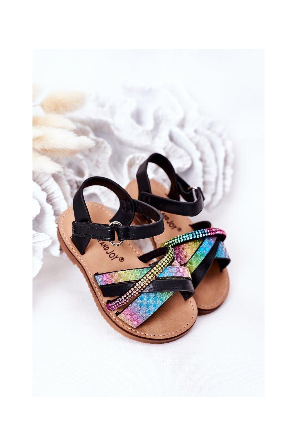 Detské sandále farba čierna kód obuvi 271-A BLACK