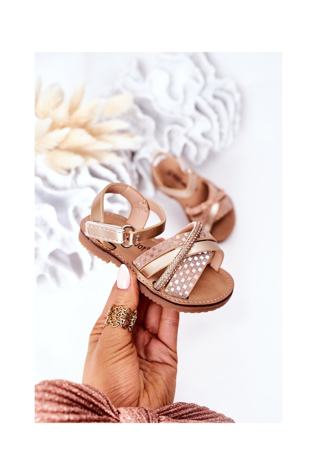 Detské sandále farba žltá kód obuvi 271-C GOLD