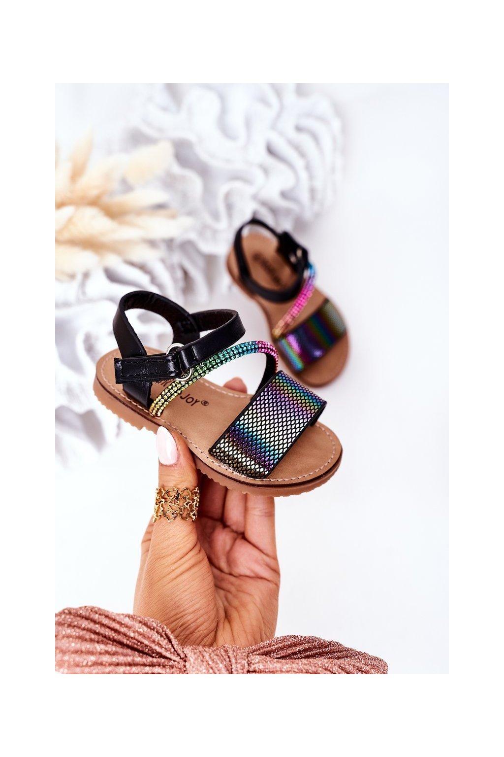 Detské sandále farba čierna kód obuvi 272-A BLACK