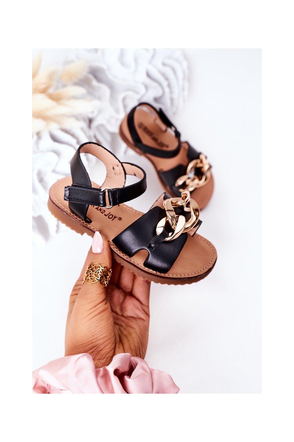 Detské sandále farba čierna kód obuvi 290-A BLACK