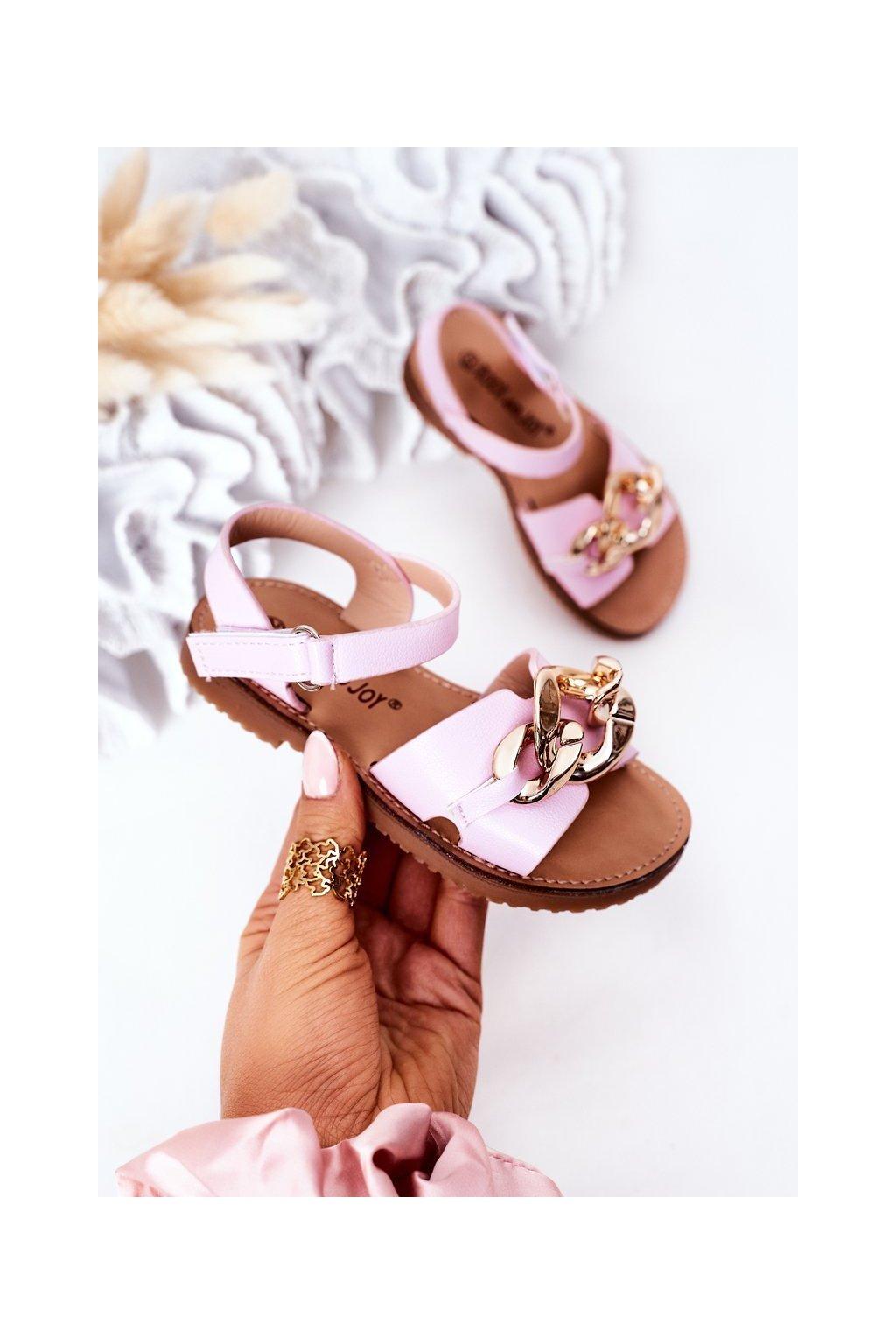 Detské sandále farba fialová kód obuvi 290-B PURPLE