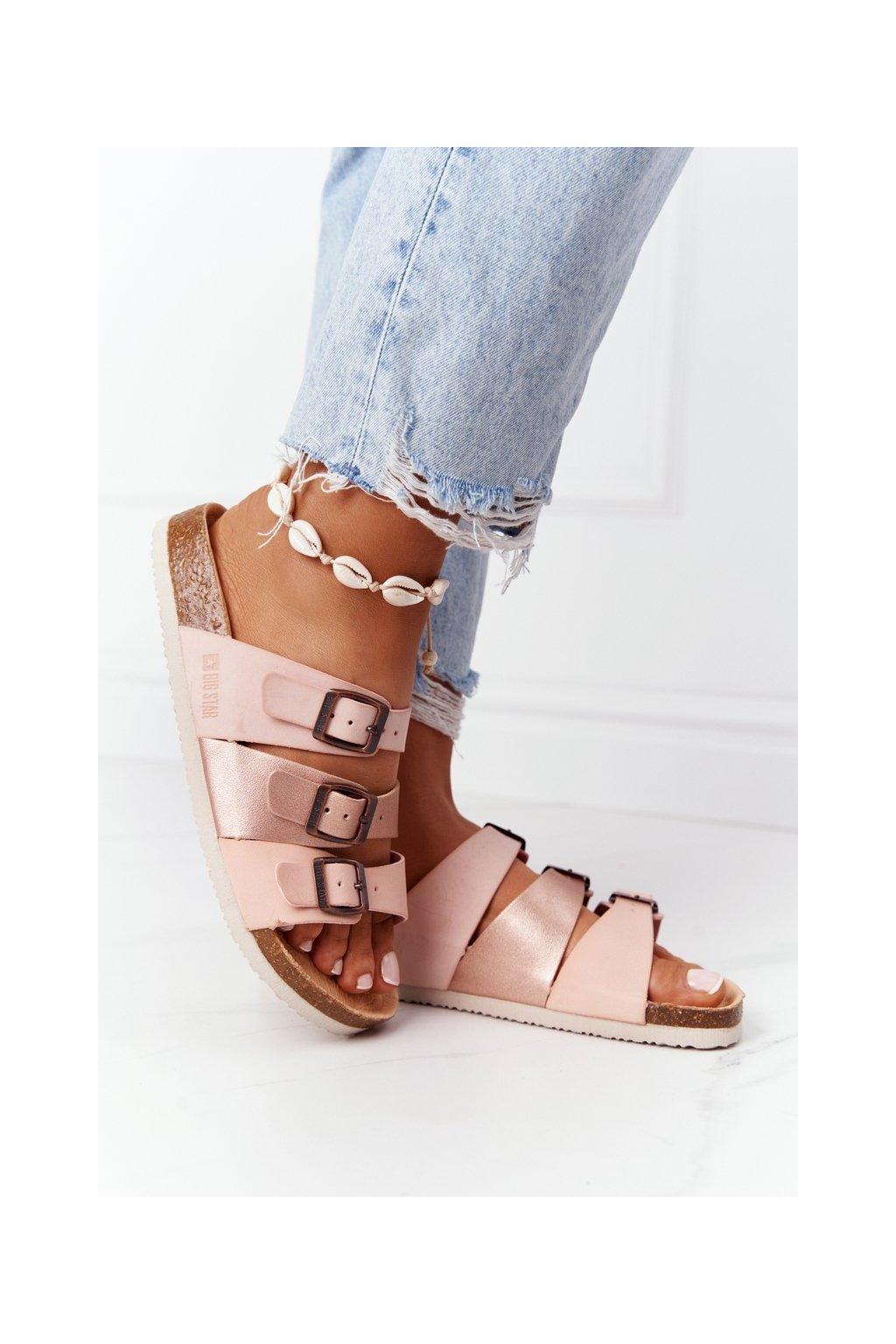 Dámske šľapky farba ružová kód obuvi HH274586 NUDE/COPPER/PINK