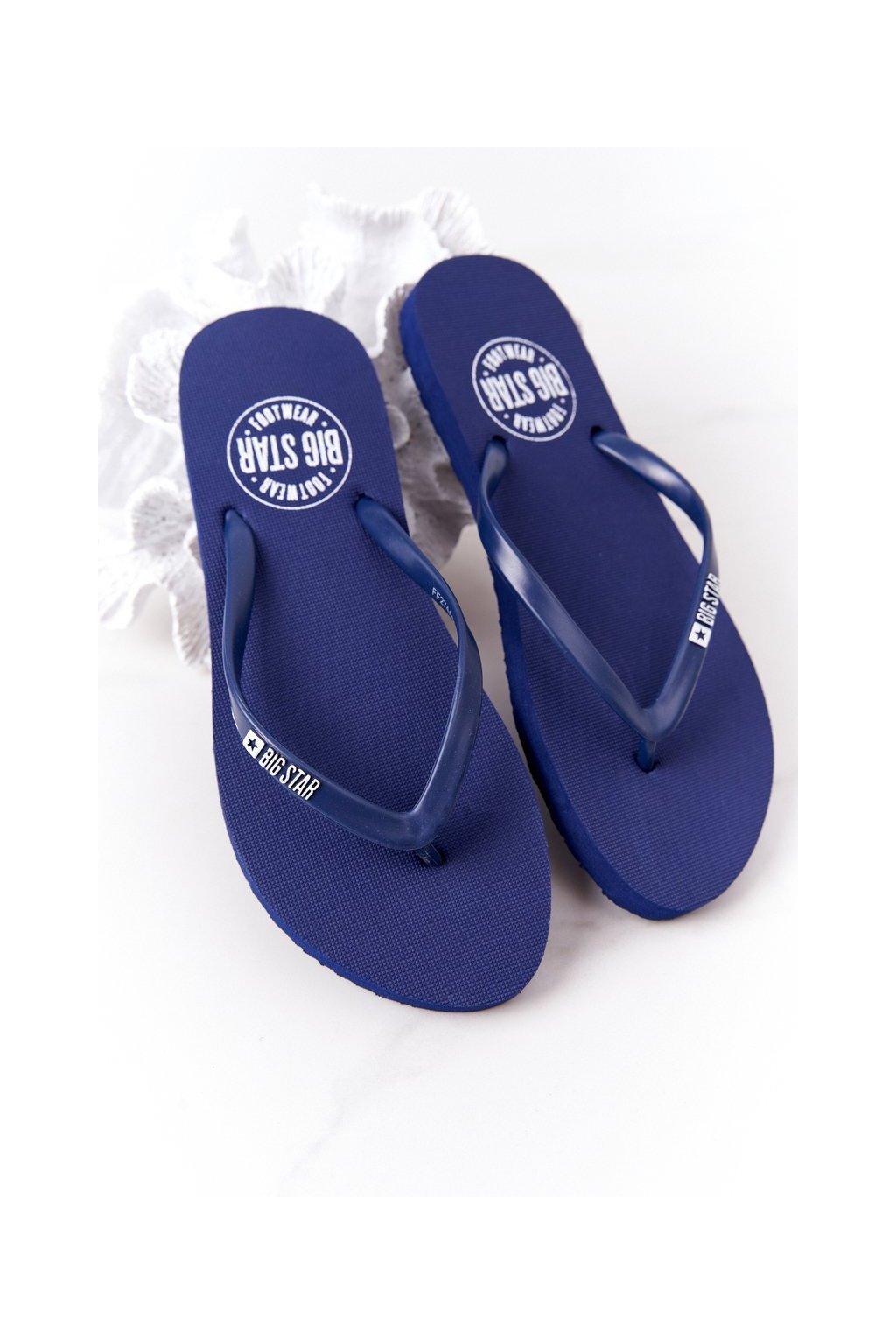 Dámske šľapky farba modrá kód obuvi FF274A614 NAVY
