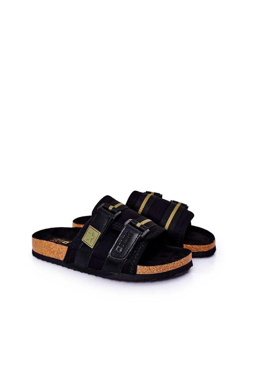 Pánske šľapky farba čierna kód obuvi HH174058 BLK