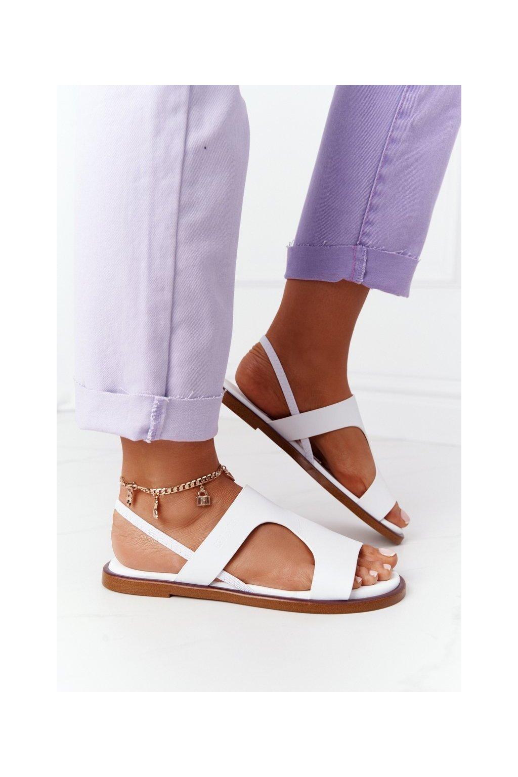 Dámske sandále farba biela kód obuvi HH274717 WHITE