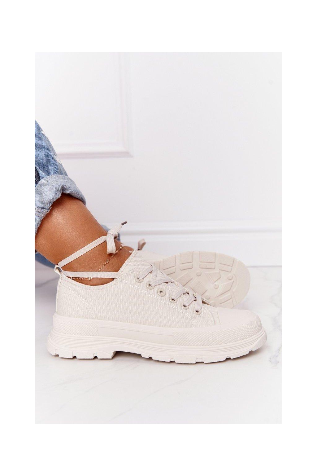 Dámske tenisky farba hnedá kód obuvi ZY203-8 BEIGE