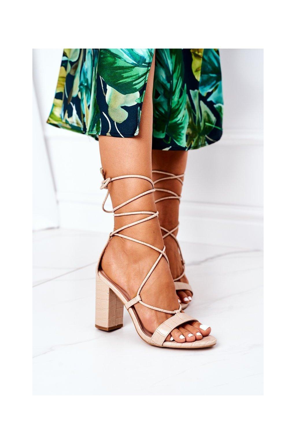 Dámske sandále farba hnedá kód obuvi SY63P BEIGE