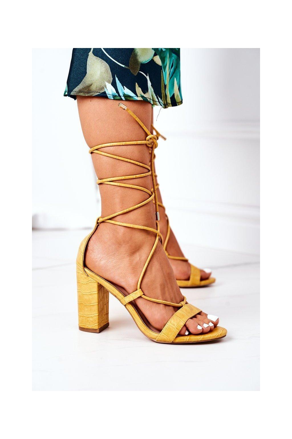 Dámske sandále farba žltá kód obuvi SY63P YELLOW
