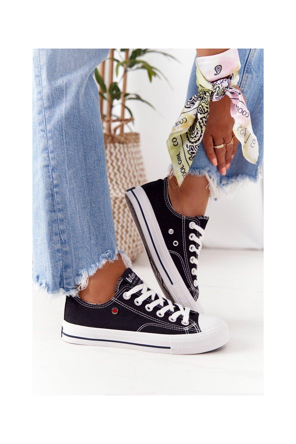 Dámske tenisky farba čierna kód obuvi LCW-21-31-0097L BLACK