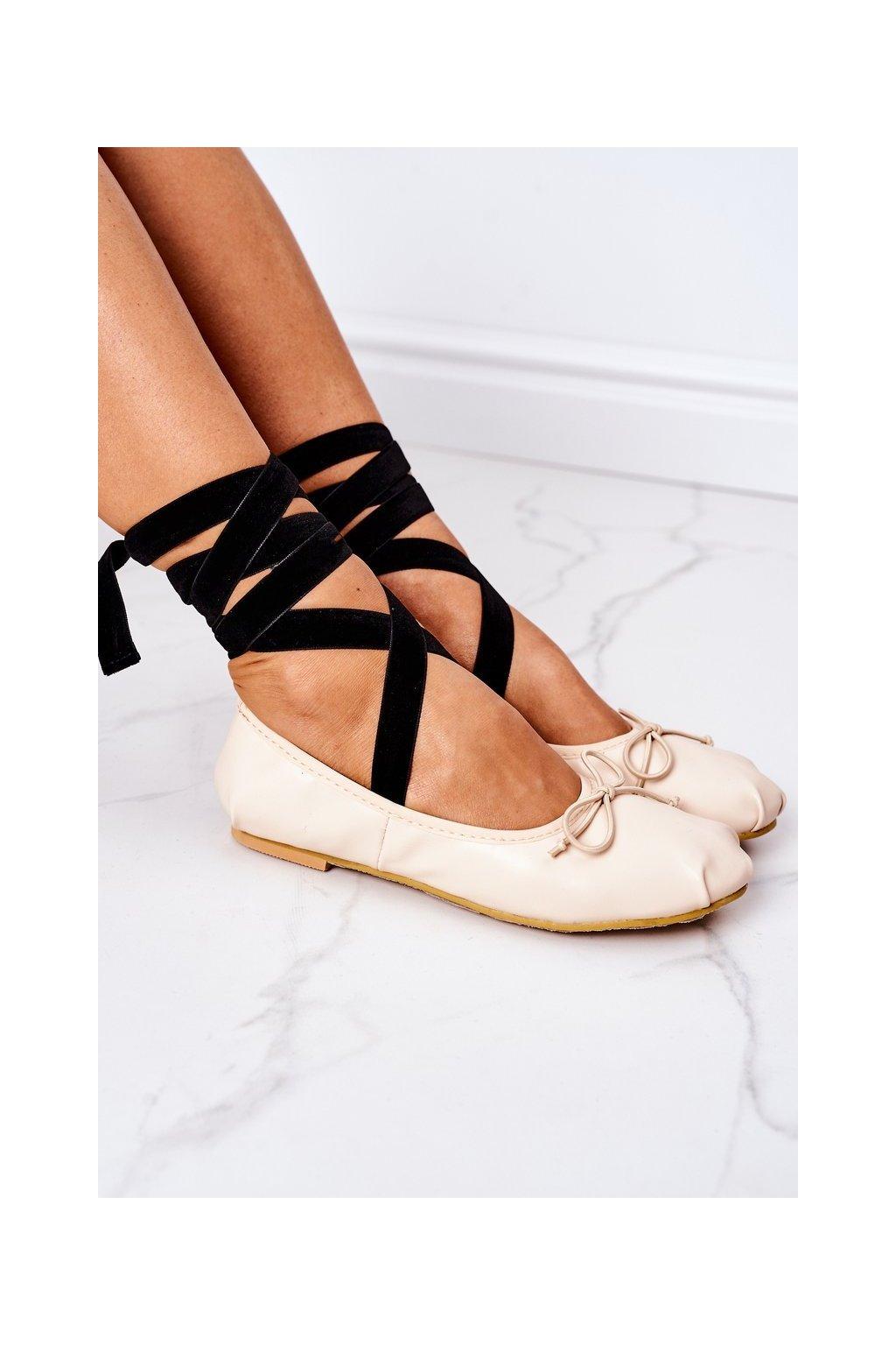 Dámske balerínky farba hnedá kód obuvi B12-26 APRICOT
