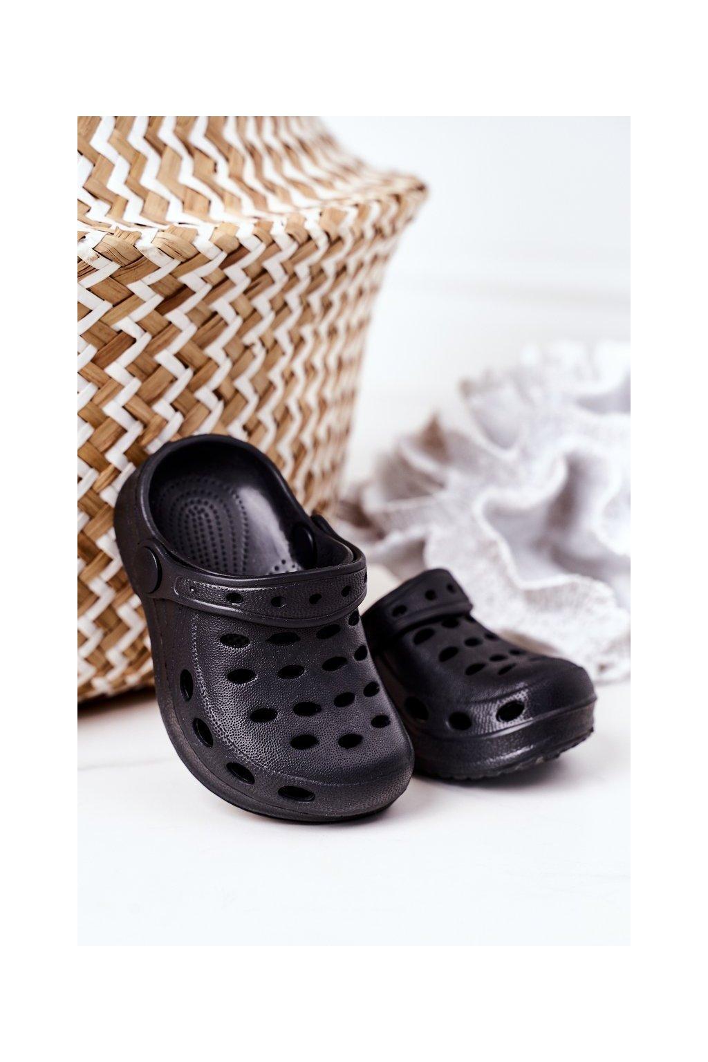 Detské šľapky farba čierna kód obuvi F-005 BLACK