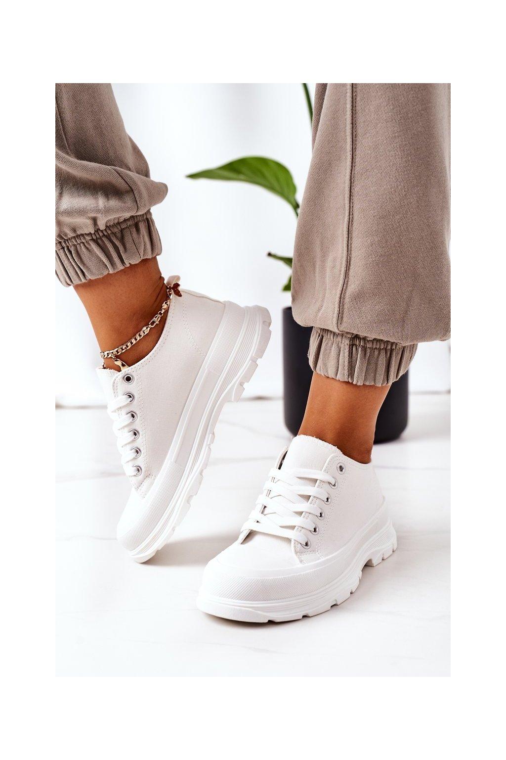 Dámske tenisky farba biela kód obuvi LA122P WHITE