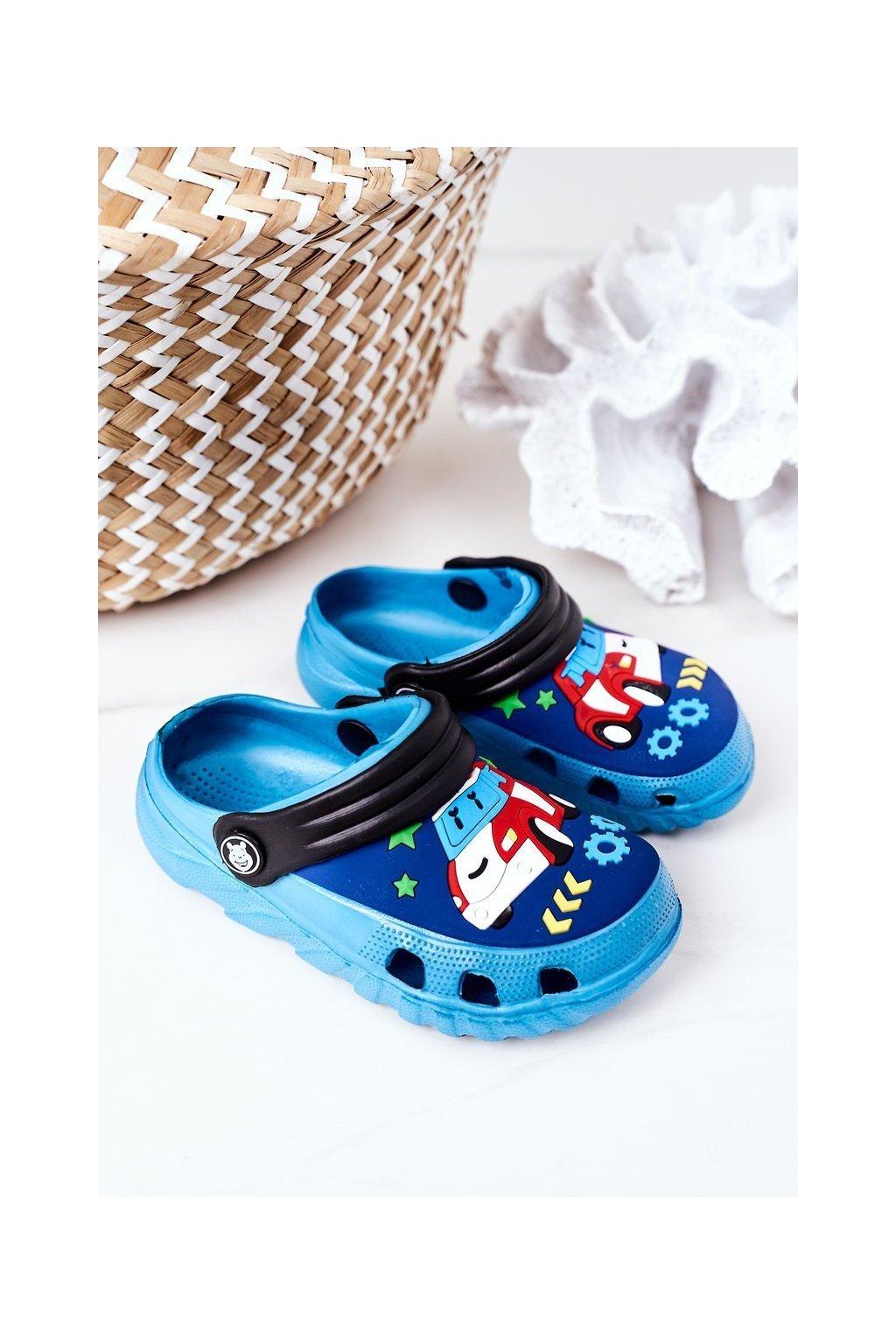 Detské šľapky farba čierna kód obuvi 8938CC PEACOCK BLUE BLACK