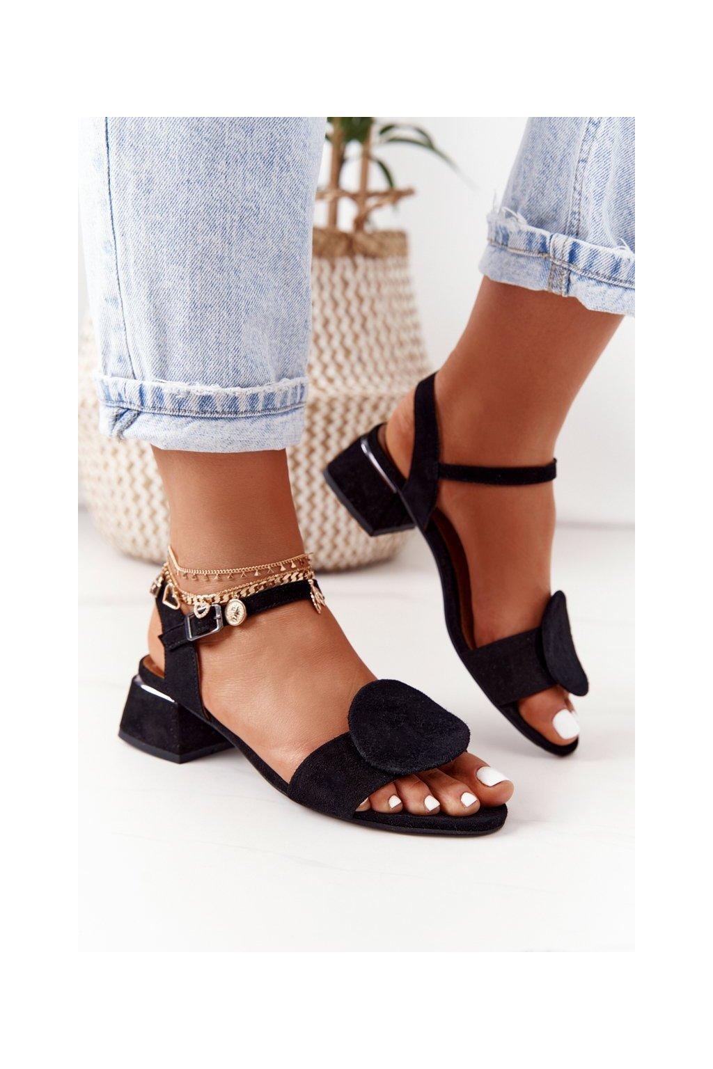 Dámske sandále farba čierna kód obuvi 5198A-01/00-5 CZARNY