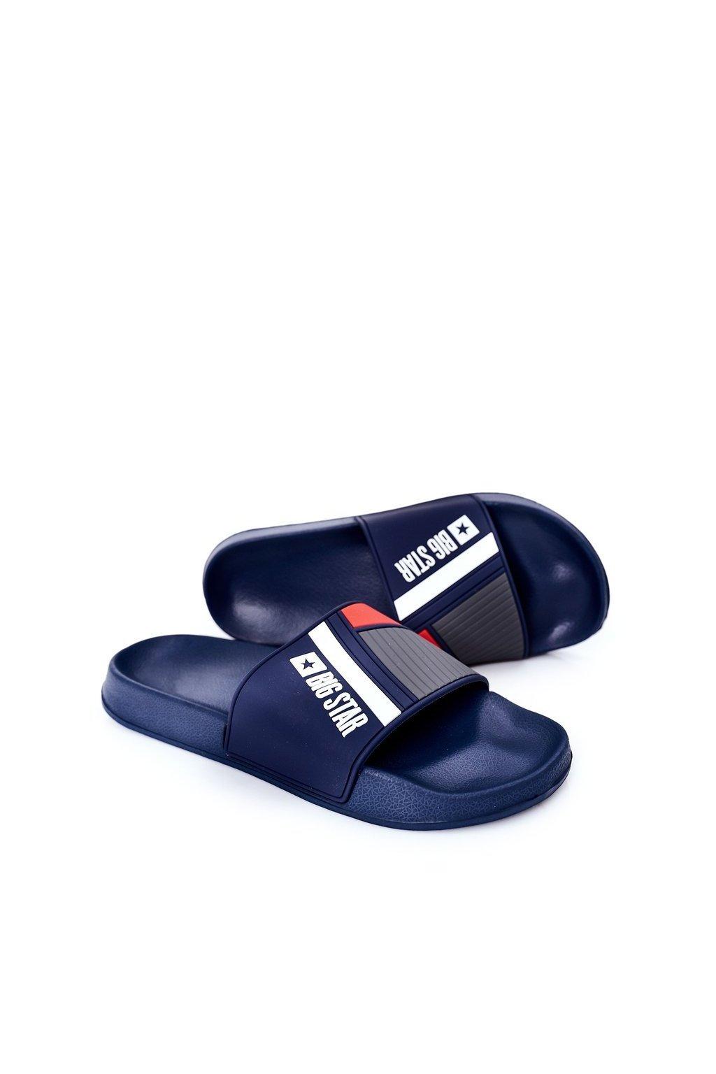 Pánske šľapky farba modrá kód obuvi HH174837 NAVY