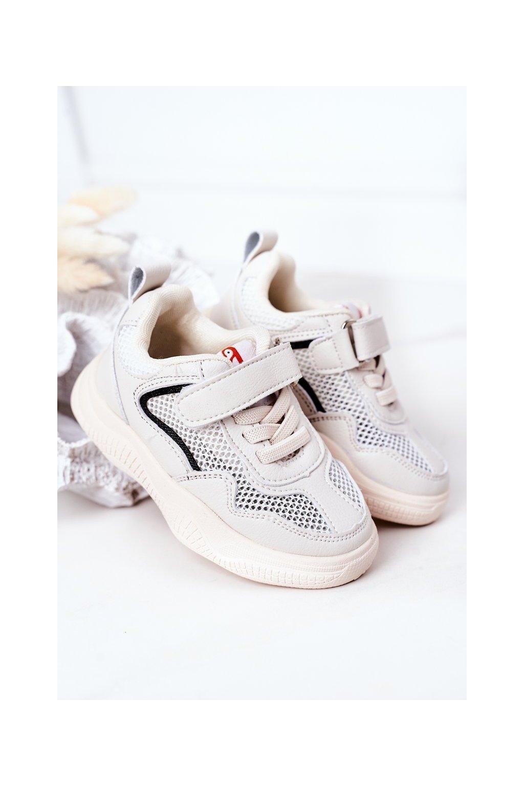 Detské tenisky farba hnedá kód obuvi X10 BEIGE