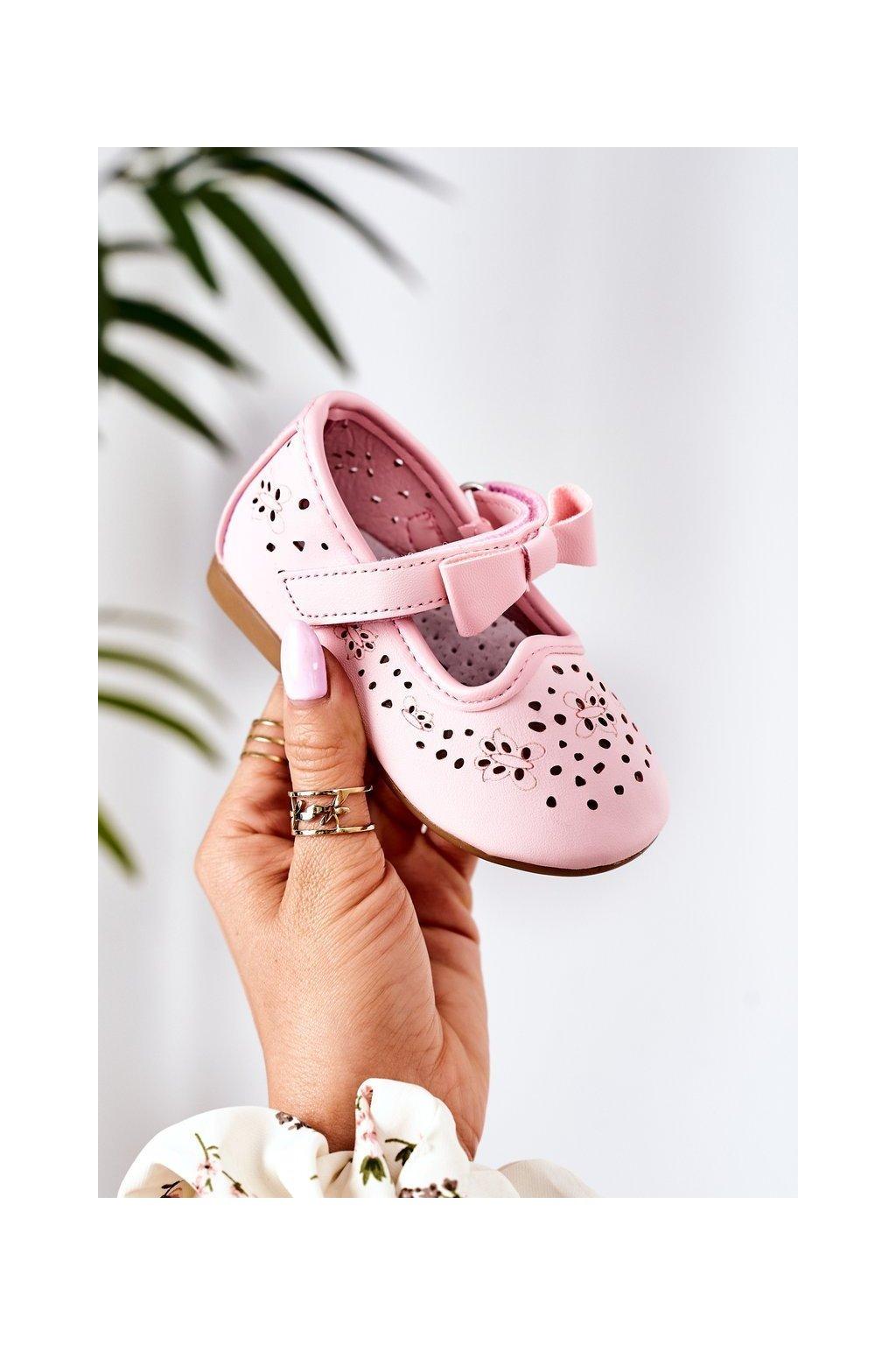 Detské balerínky farba ružová kód obuvi H102 PINK