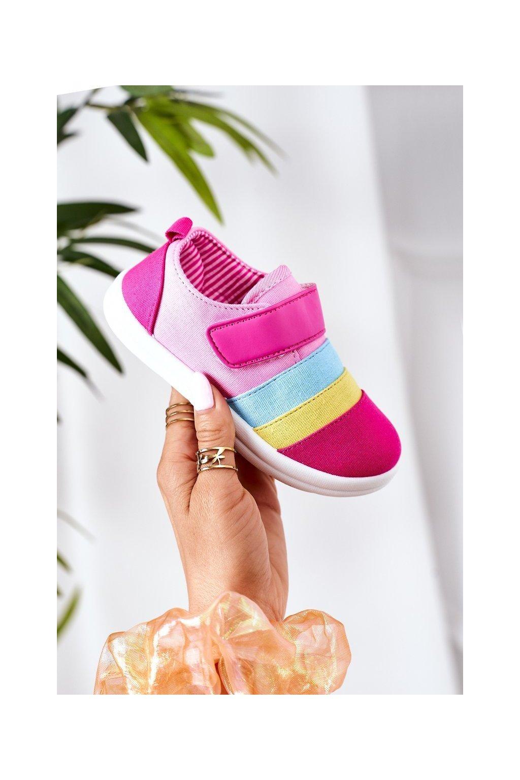 Detské tenisky farba ružová kód obuvi Z495 FUCHSIA