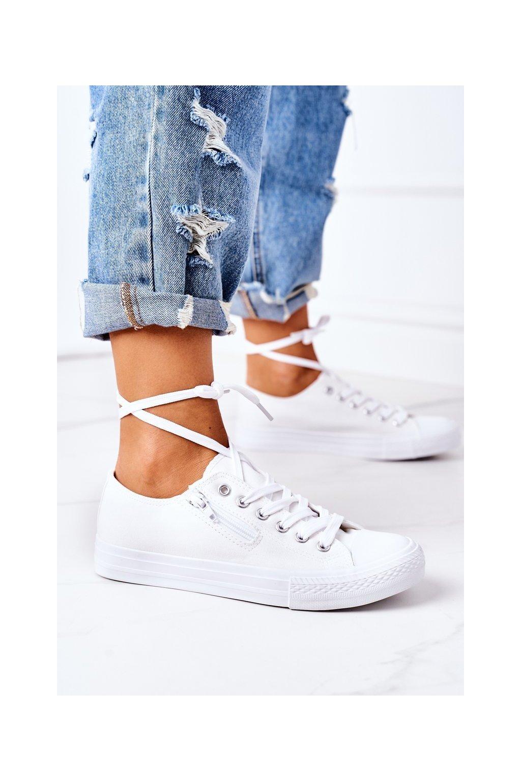 Dámske tenisky farba biela kód obuvi KA34-41A WHITE