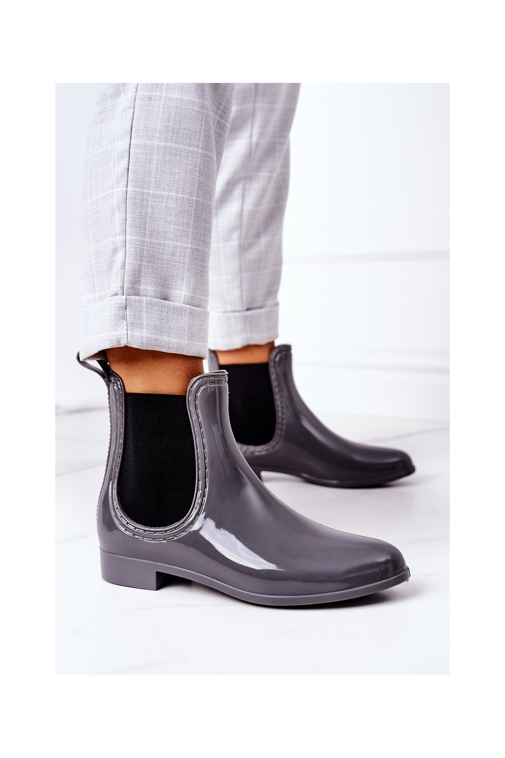 Dámske gumáky farba sivá kód obuvi HMY-9 GREY